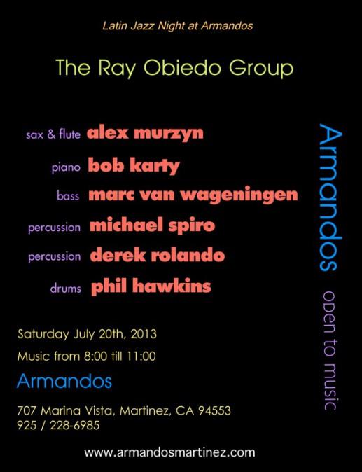 Ray Obiedo Group at Armando's, July20